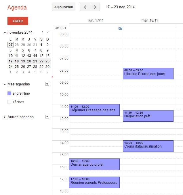Google Agenda disponible pour tous les titulaires d'un compte Gmail